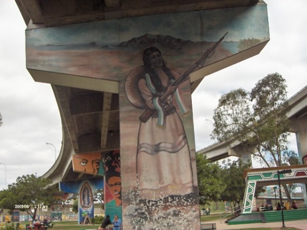 Murals in Chicano Park Barrio Logan photo vy Smedpull via Wikipedia CC