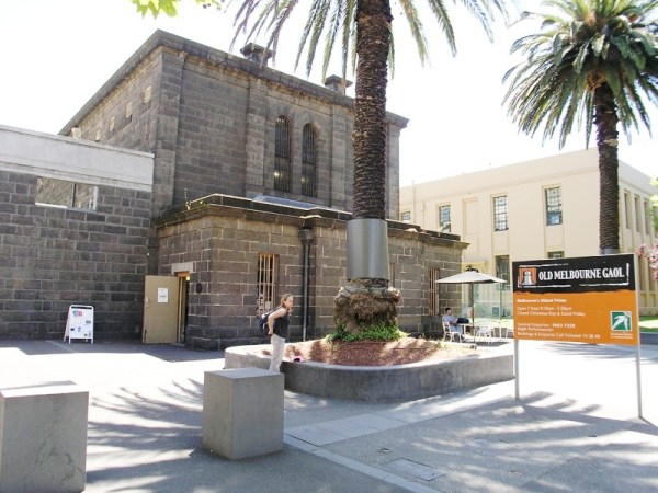 Old Melbourne Gaol photo by Charlie Brewer via Wikipedia CC