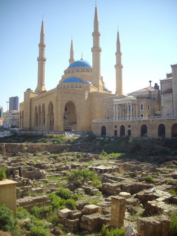 Roman excavations and mosque in Beirut