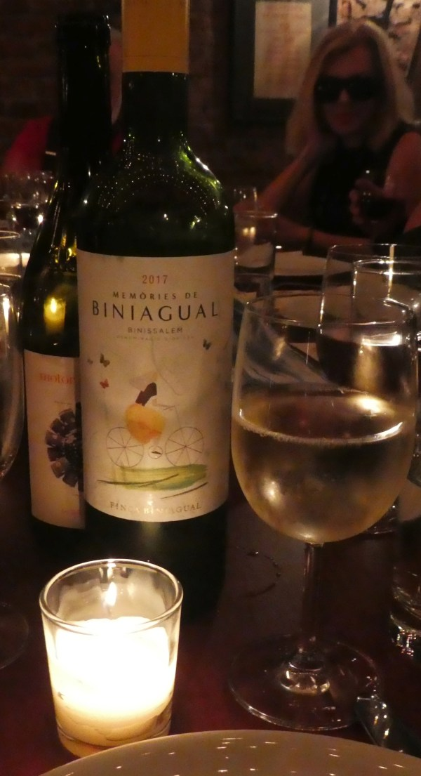 A delicious local white wine