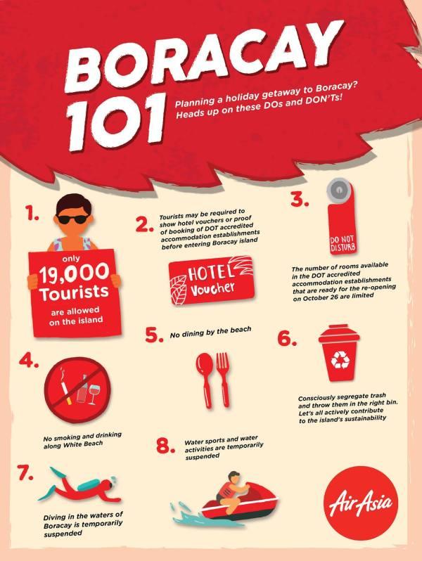 Boracay Dos and Don'ts courtesy of AirAsia