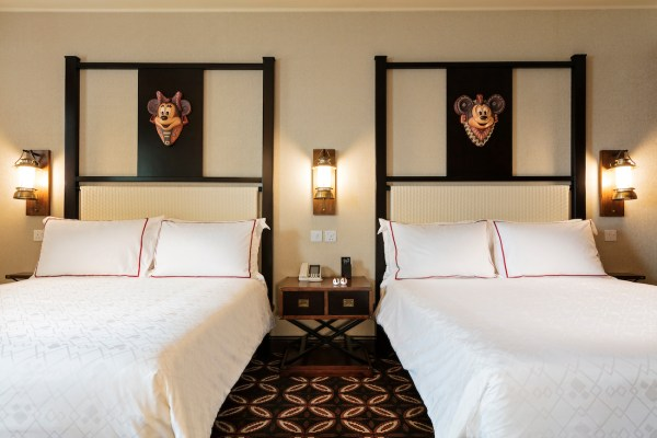 Each room has two queen sized beds