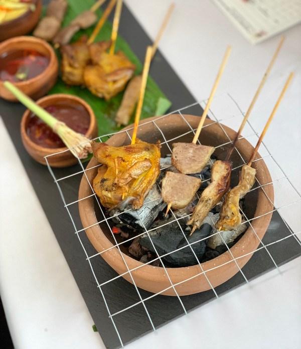 Inasal nga kwaho, obre and pugo appetizer