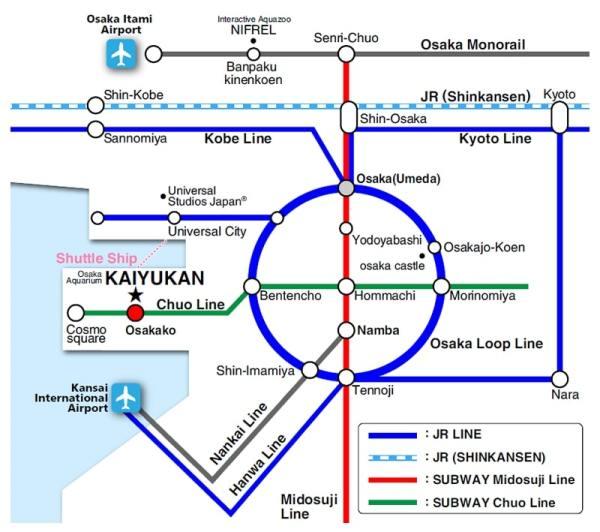 Map Access to Osaka Aquarium Kaiyukan