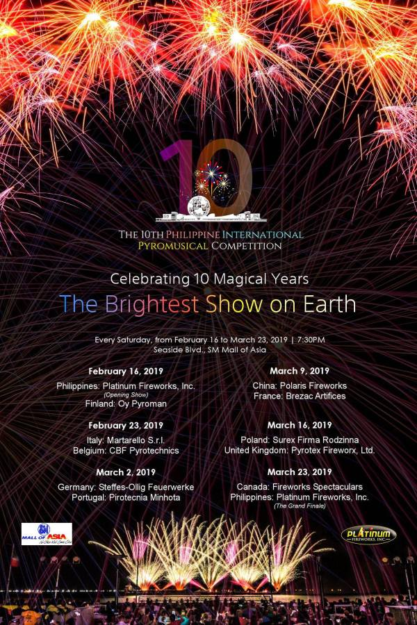 Philippine International Pyromusical Competition 2019