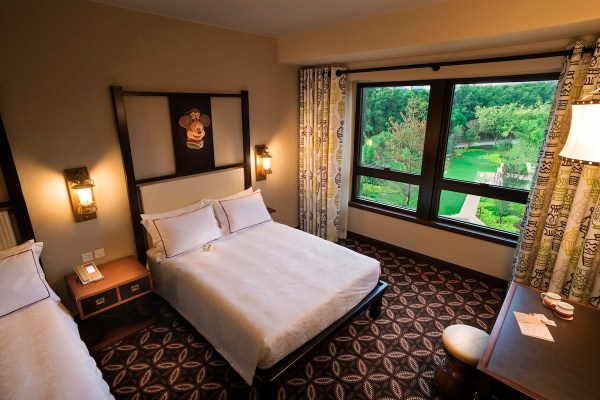 Rooms have nice views of the garden