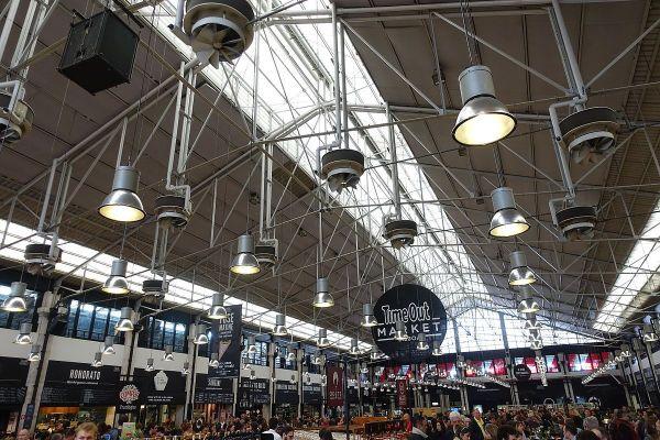 Time Out Market in Mercado da Ribeira, Lisbon, Portugal by Joseolgon via Wikipedia CC