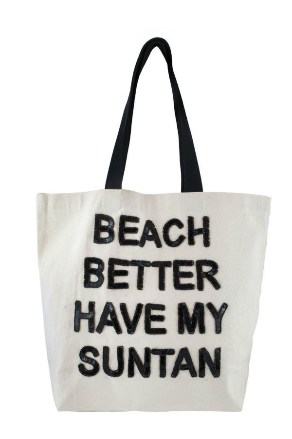 Fallon and Royce Statement Canvas Tote Beach Bag