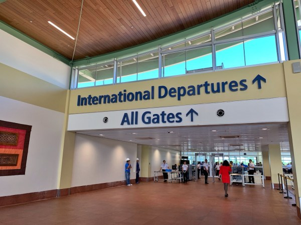 Gate for International Departures in Panglao Airport