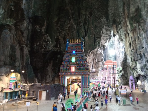 Inside the temple cave
