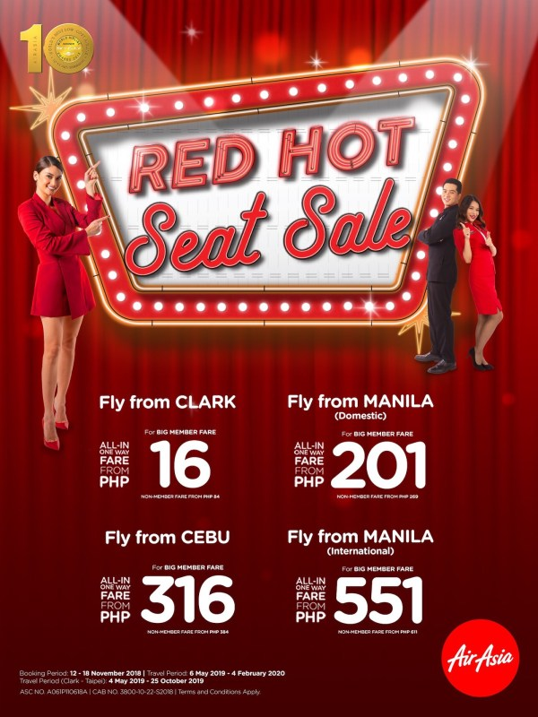 Last Red Hot Seat Sale for 2018