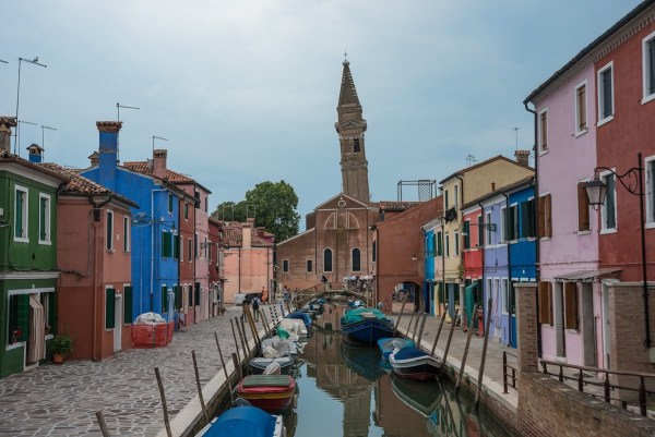 Leaning Tower in Burano Island