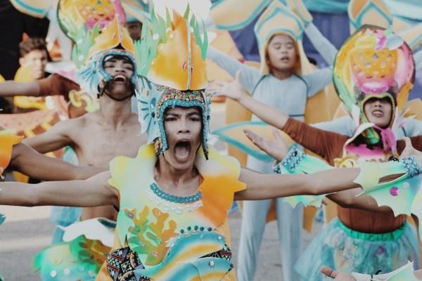 Oriental Mindoro, Occidental Mindoro, Romblon, Calapan, Palawan, and Puerto Princesa performing at the Grand Street Parade at #MIMAROPAFestival year 4 #TeamOutOfTown