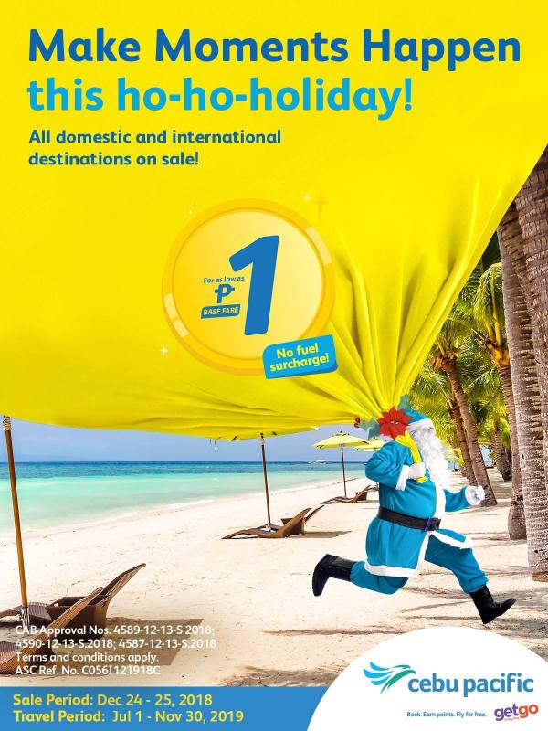 Cebu  Pacific Christmas Piso Fare Sale