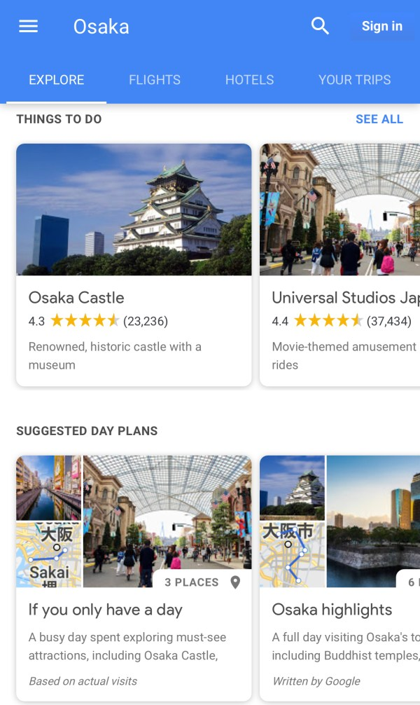 Easily plan your itinerary with the travel guides