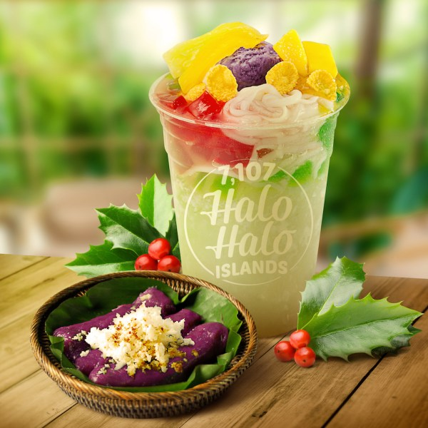 Halo-Halo Islands and puto-bumbong are popping out colors and flavor with this sweet combination