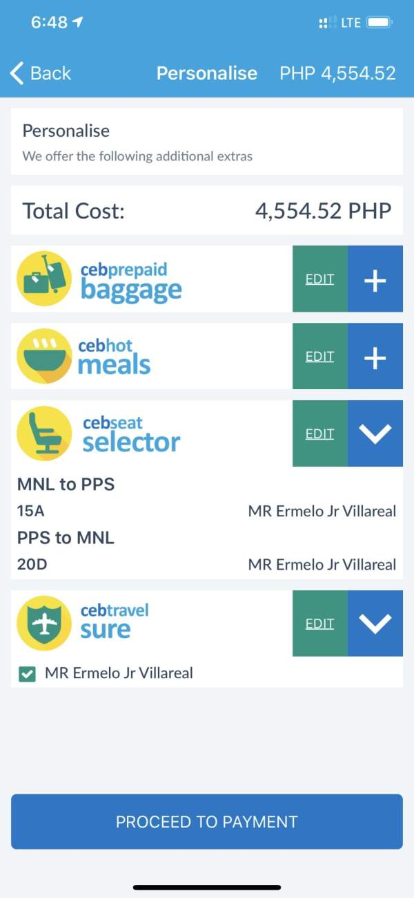 Personalize your Cebu Pacific Flight Booking