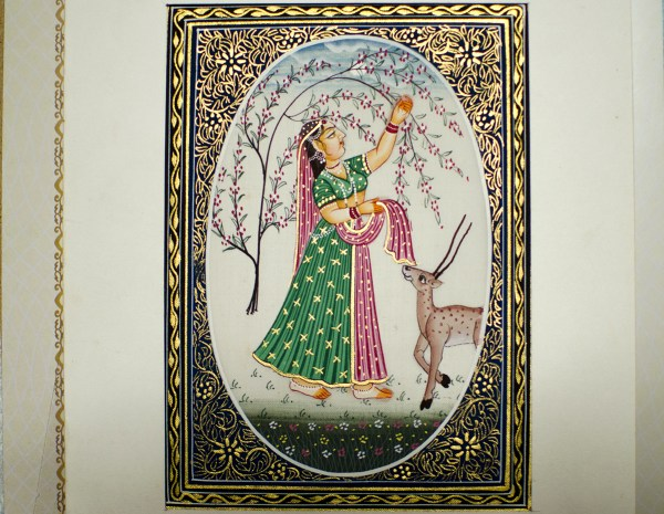 Miniature painting by my homestay owner in Bikaner
