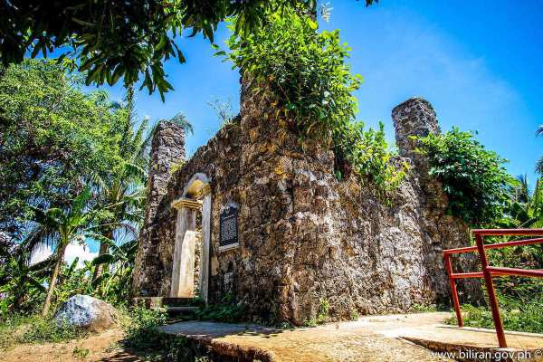 Nasunugan Watch Tower Ruins photo via Biliran.gov.ph