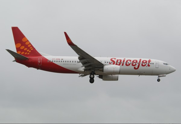 SpiceJet photo via Wikipedia CC