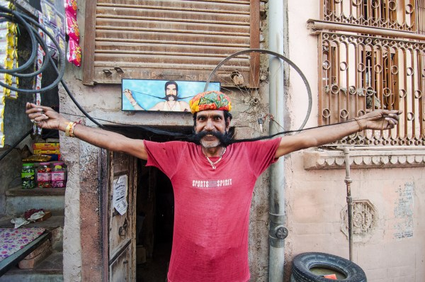 Vikram-ji and his mustache