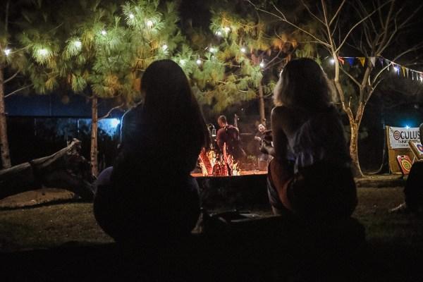 Bonfire at El Kabayo Clark Stables Picnic Grounds by Mac Dillera