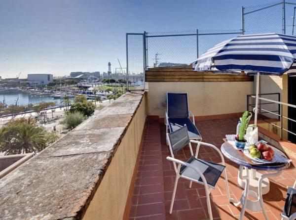 Hotel Terrace at Del Mar Hotel Barcelona