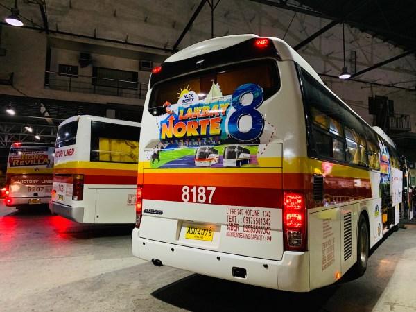 Lakbay Norte 8 Bus in Cubao