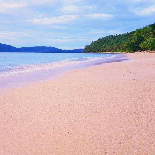 Pink Beach, Sila, San Vicente Northern Samar photo via Northern Samar FB