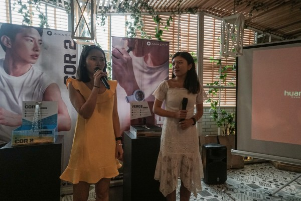Amazfit's Overseas Marketing Manager April Zhong and Overseas Sales Manager Sophia Liao