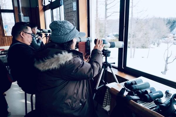 Binoculars at the Nature Center