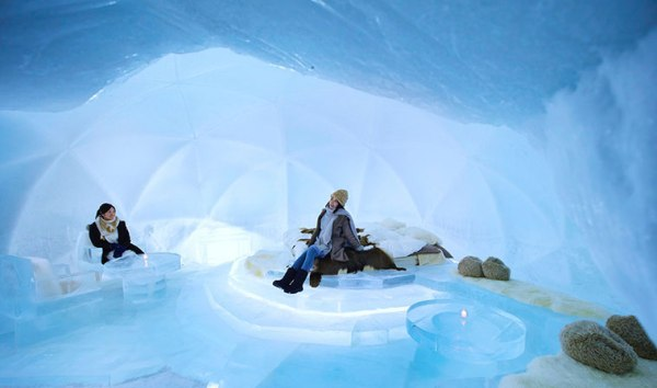 Ice Hotel in Japan photo by Hoshino Resorts