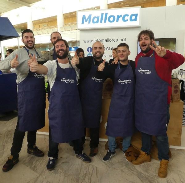 Mallorca booth where festival goers enthusiastically consumed the aperitif 'Herbs de Majorca'