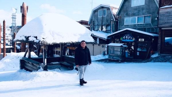 Melo at the Ainu Village in Lake Akan Hokkaido