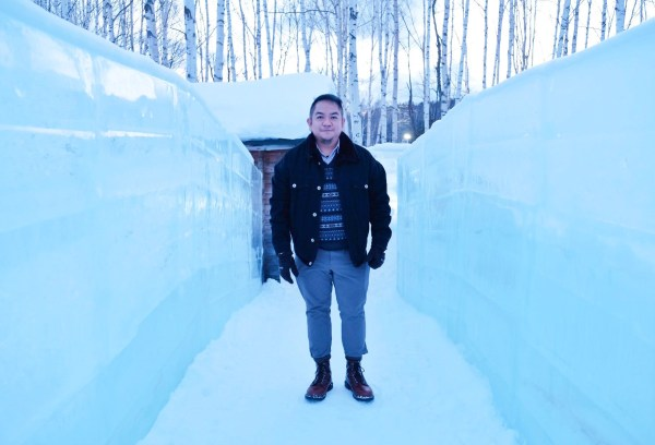 Melo at the Ice Hotel