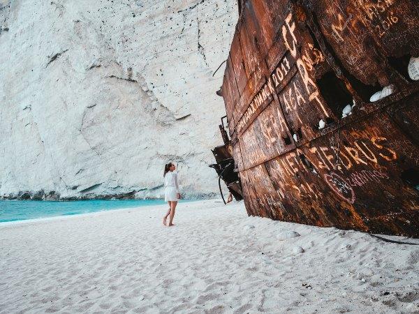 Navagio Beach, Zakynthos, Greece by Max Van Den Oetelaar via nsplash