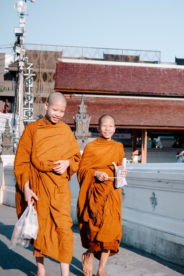Novice Monks in Chiang Mai by Victor Deweerdt via Unsplash