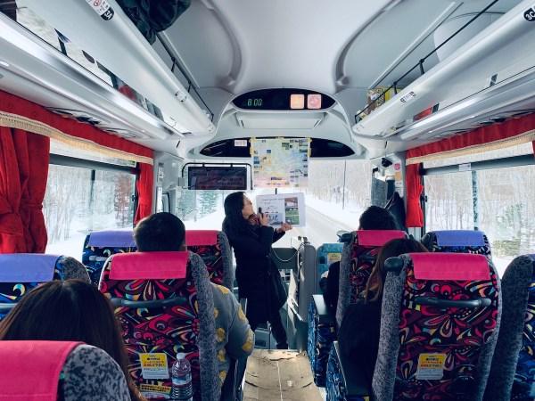 Our tour bus in Hokkaido