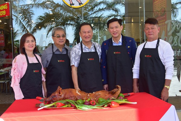 Rico's Lechon has opened its fifth store in Manila, located at the SM Mall of Asia Complex, Level 1, South Wing, Seaside Avenue, Pasay, with a ceremonial lechon chopping with the guests of honor: Cong. Imelda Calixto-Rubiano, Pasay City Mayor Antonino Calixto, Meat Concepts Corporation President George Pua, SM Supermalls Chief Operating Officer Steven Tan, and Rico's Lechon Founder Rico Dionson