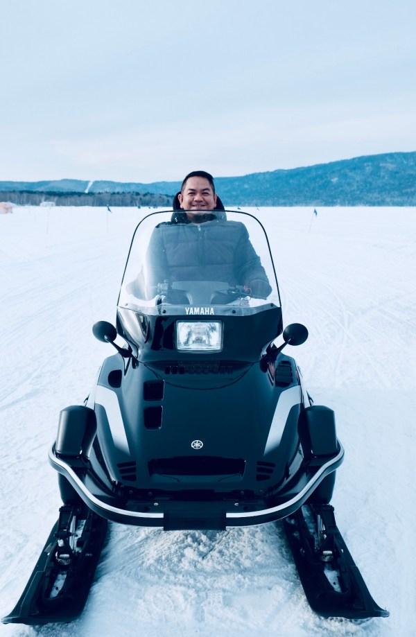 Snowmobile Experience at Lake Akan