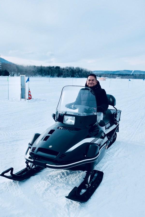 Snowmobile Experience in Hokkaido