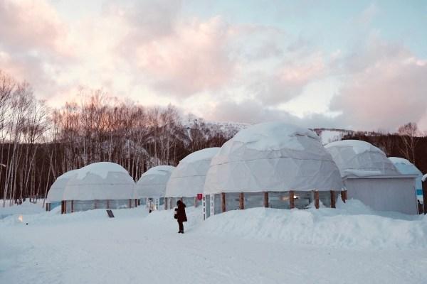 Sunset at the Ice Village