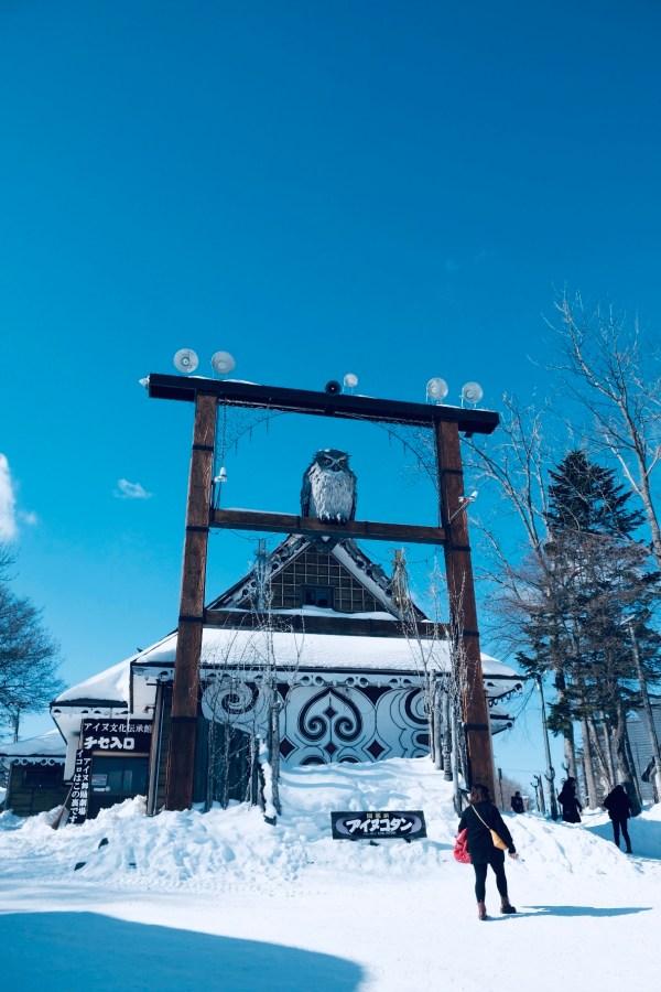 Walking around the Ainu Village in Kushiro