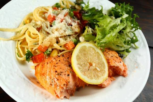 Brick Oven Roasted King Salmon photo by Foggy Mountain Cookhouse FB Page