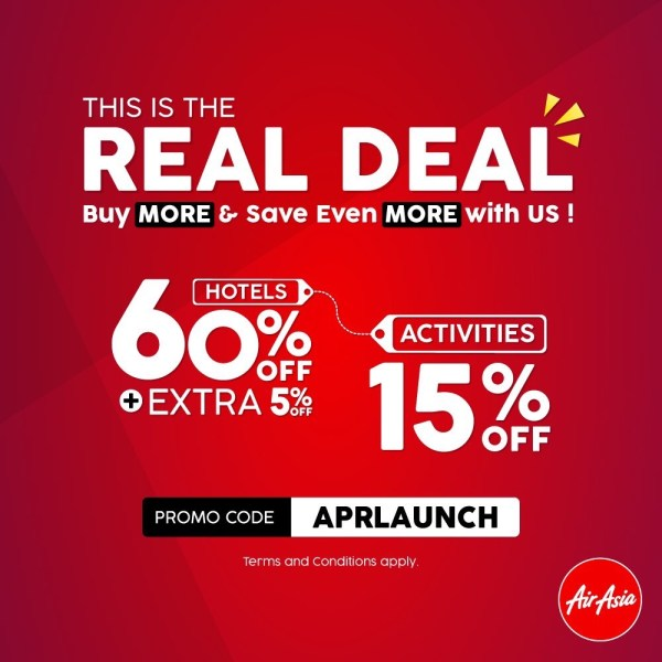 Go beyond just flights and book your next travel and lifestyle deal at Airasia.com