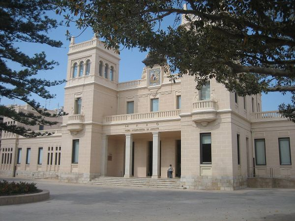 Main facade of the Provincial Archaeological Museum of Alicante by Rodriguillo via Wikipedia CC