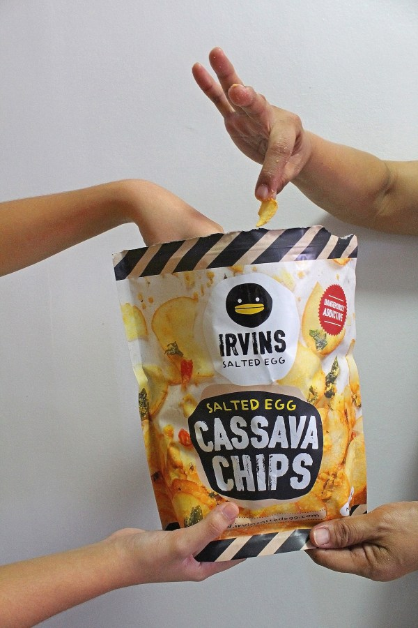 Salted Egg Flavored Cassava Chips by Irvins