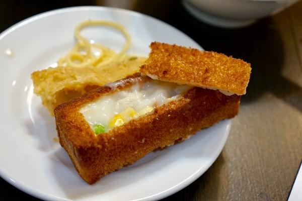 Deep-fried sandwich