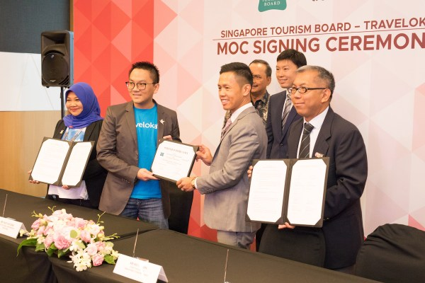 MOA Signing of strategic partnership between STB and Traveloka