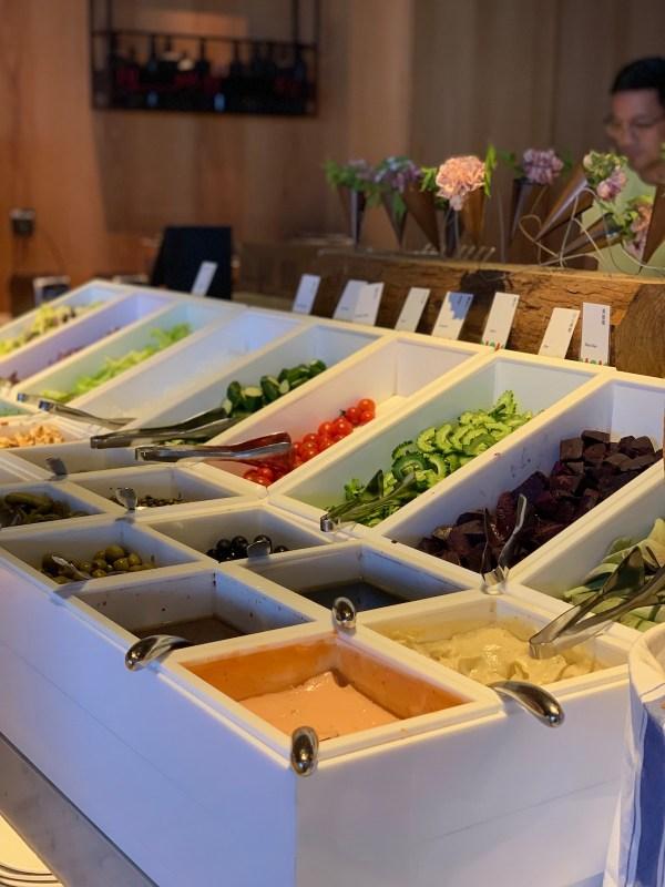 Salad Bar at The Place Tainan Hotel